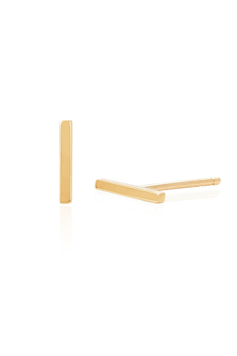 Mini Bar Stud Earring - Yellow Gold - Pavilion