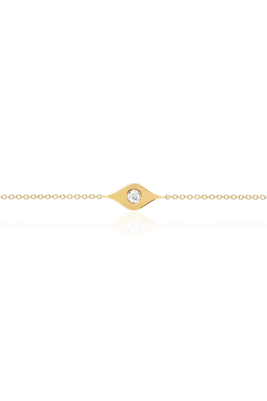 Gold & Diamond Evil Eye Bracelet - Pavilion
