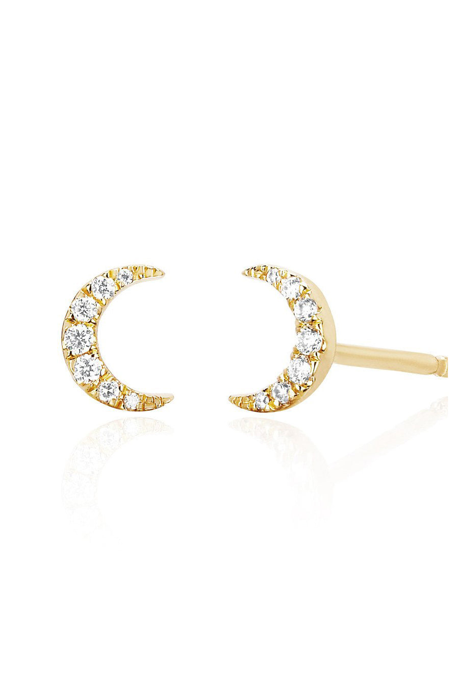 Diamond Mini Moon Stud - Pavilion
