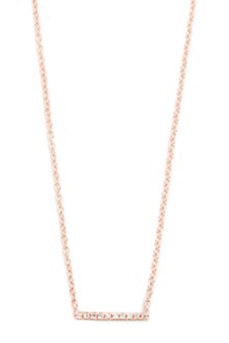 Diamond Mini Bar Necklace Rose Gold - Pavilion