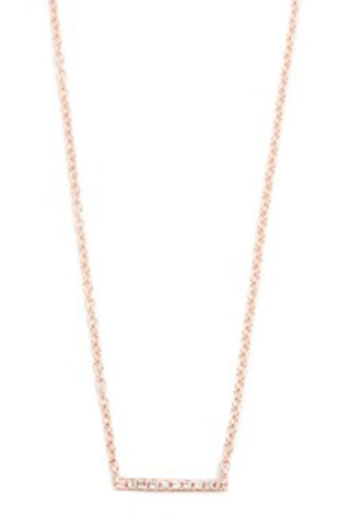 Solitaire Necklace - Rose Gold