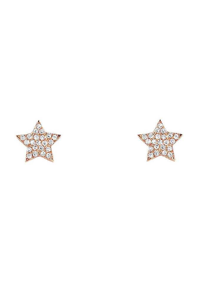 Star Stud - Yellow Gold - Pavilion