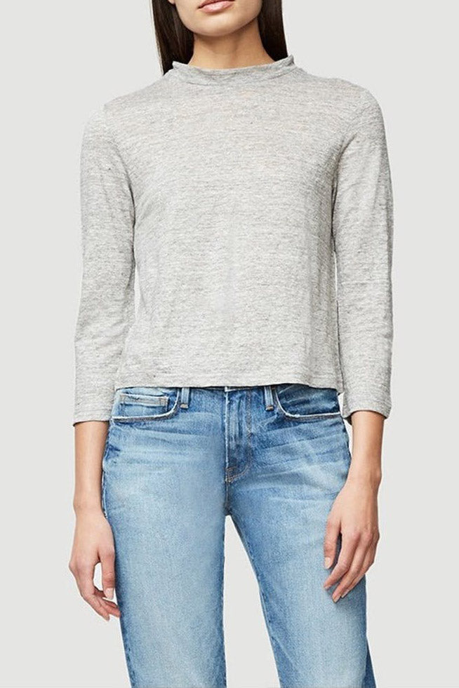 Cropped Linen Tee