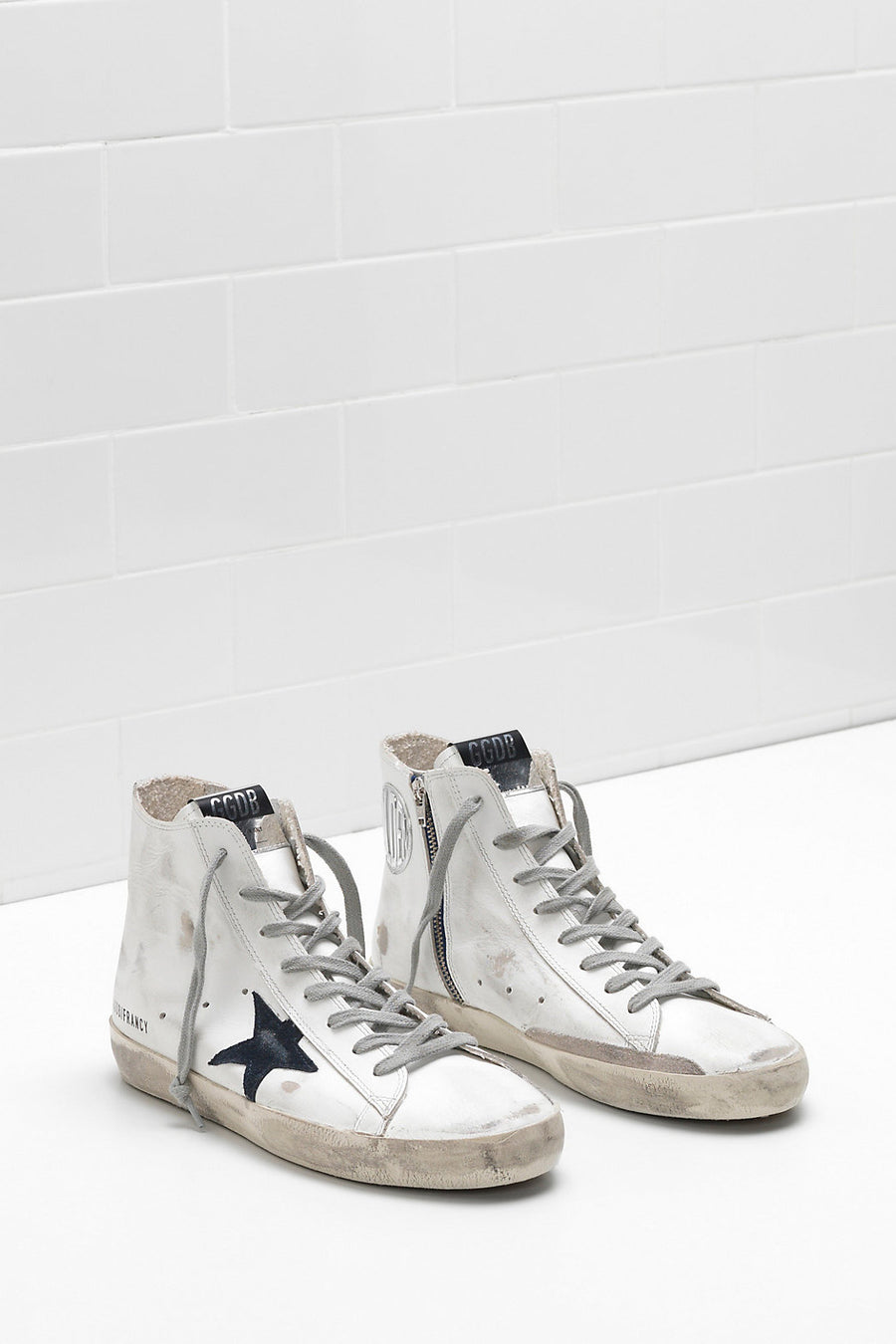Francy Sneakers - Men's White Bluette Zip - Pavilion