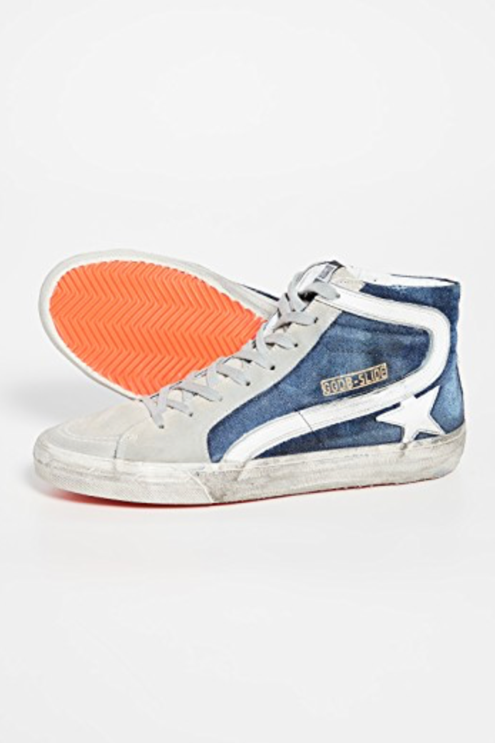 Slide - Blue Denim White Star - Pavilion