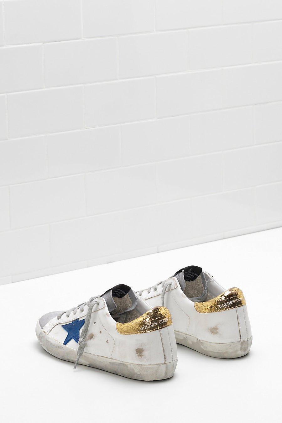 Superstar - White Leather Gold Crack