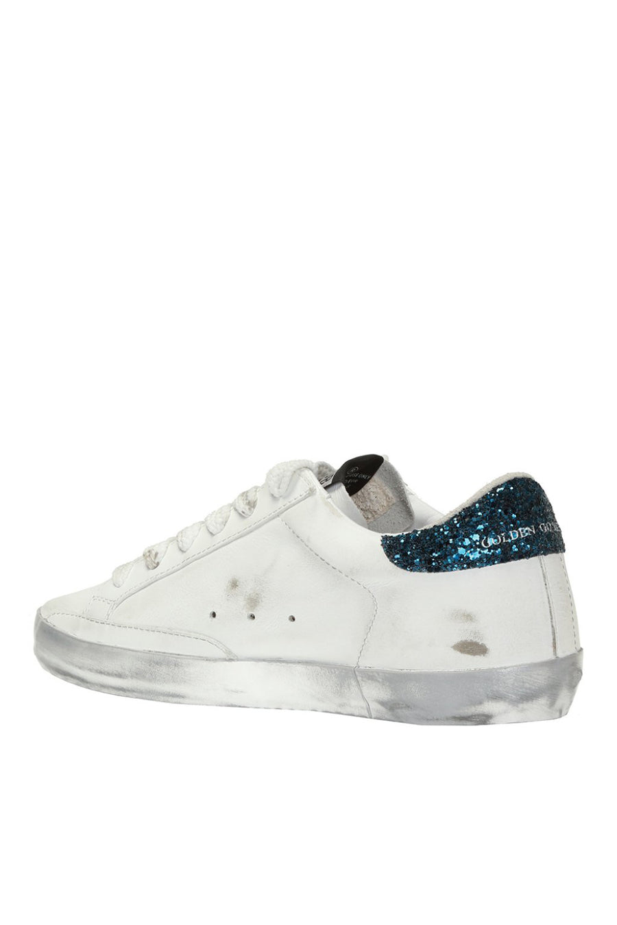 Superstar - White Leather Sparkle Yellow Star