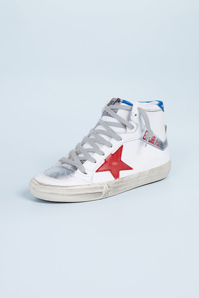2.12 Sneakers  - White w/Red Star - Pavilion