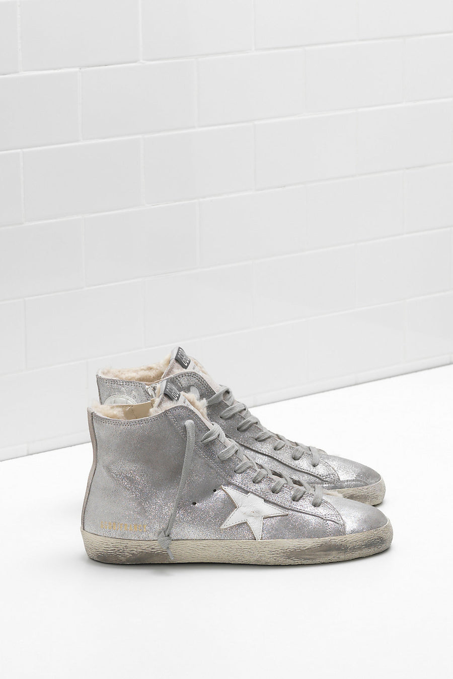 Francy - Silver Suede Shearling - Pavilion