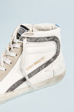 Slide Sneakers - White Leather & Landed - Pavilion