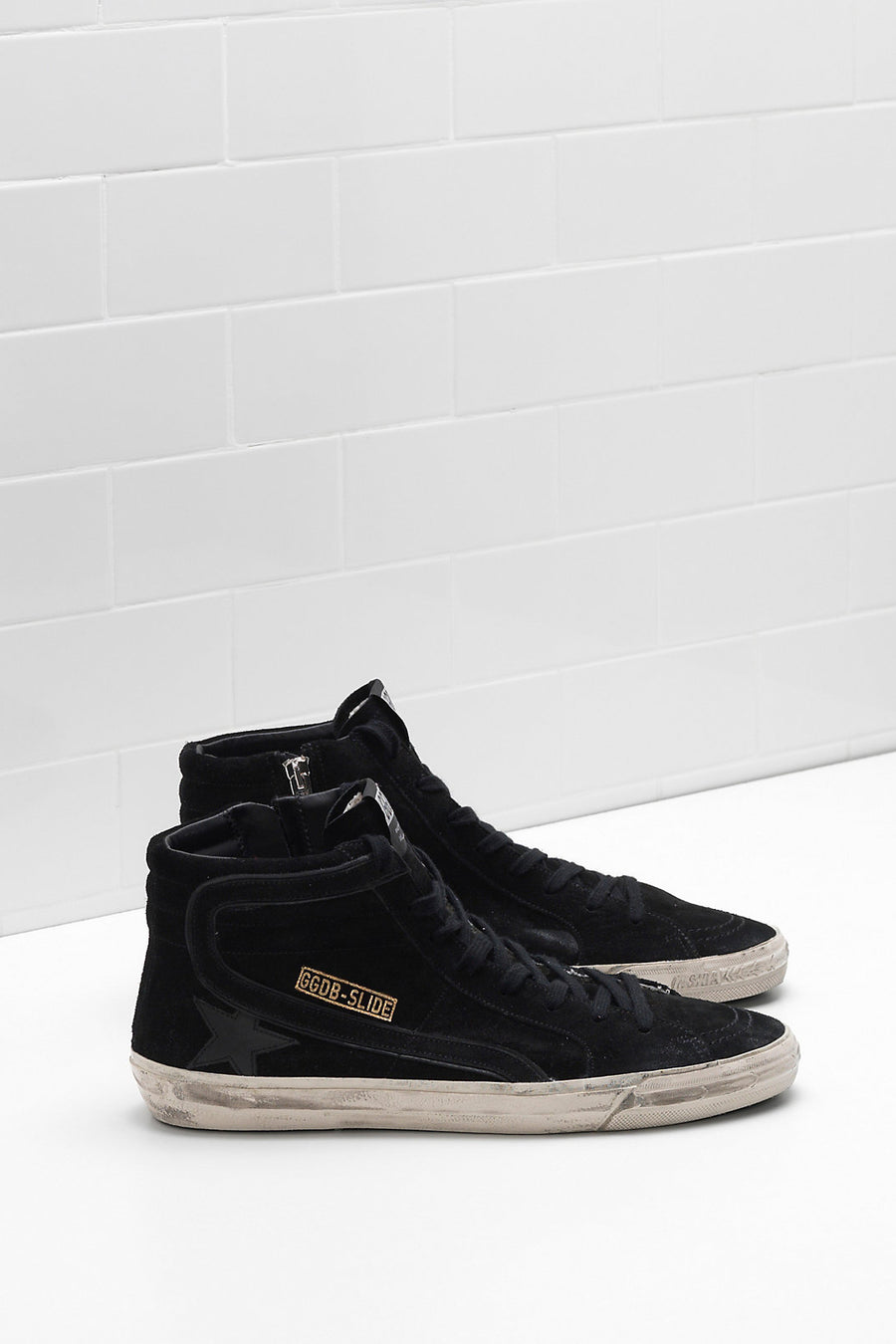 Slide Sneakers - Black Suede