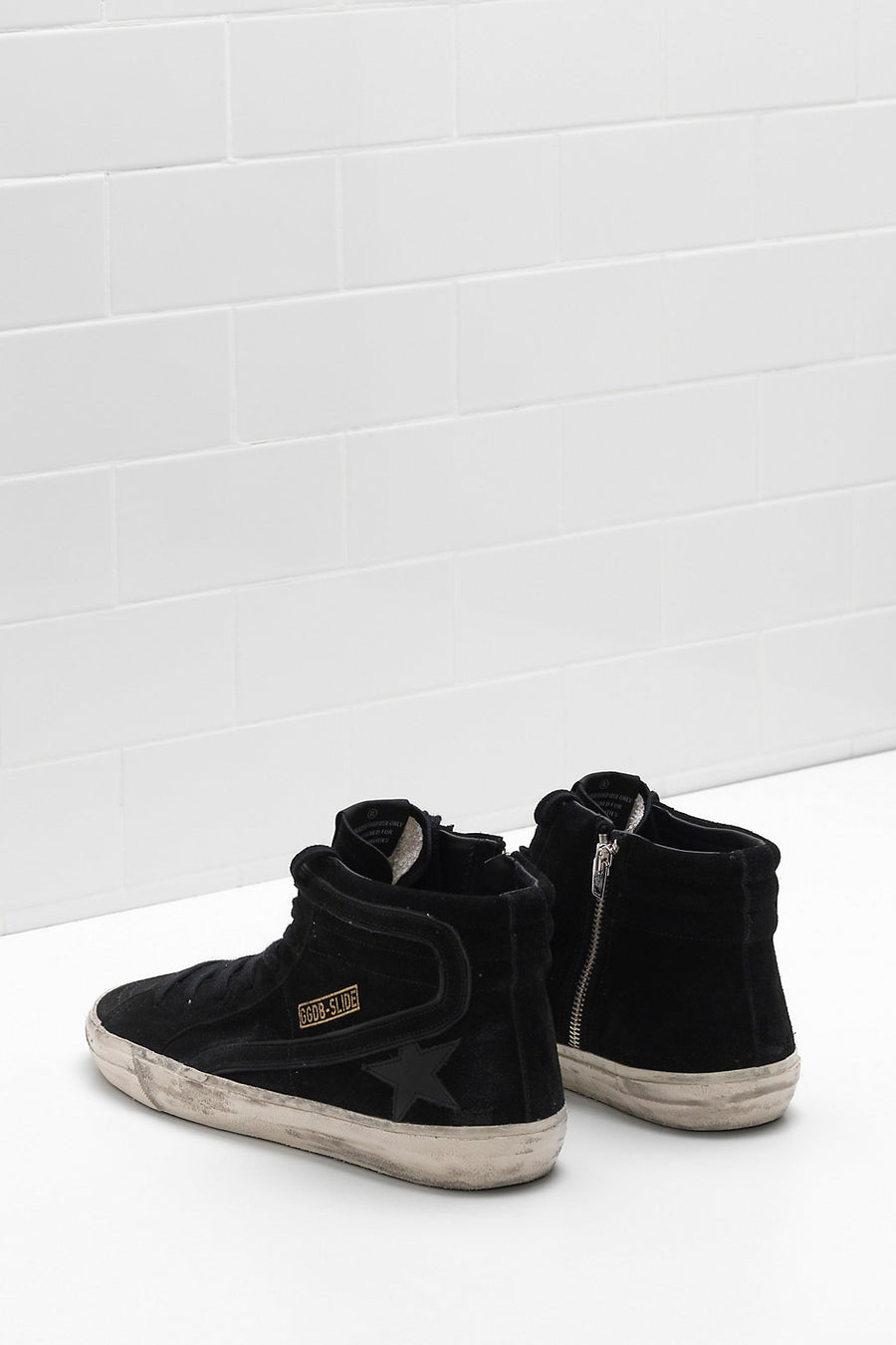 Slide Sneakers - Black Suede - Pavilion