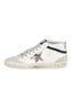 Mid Star - White Leather Zebra Star