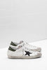 Superstar - Black Suede Star w/Green