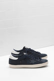 Superstar - Blue Nubuck Gold Lettering