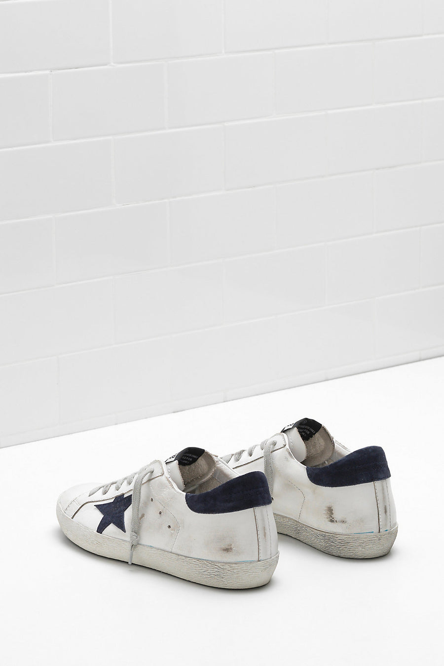Superstar - White w/ Dark Navy Star