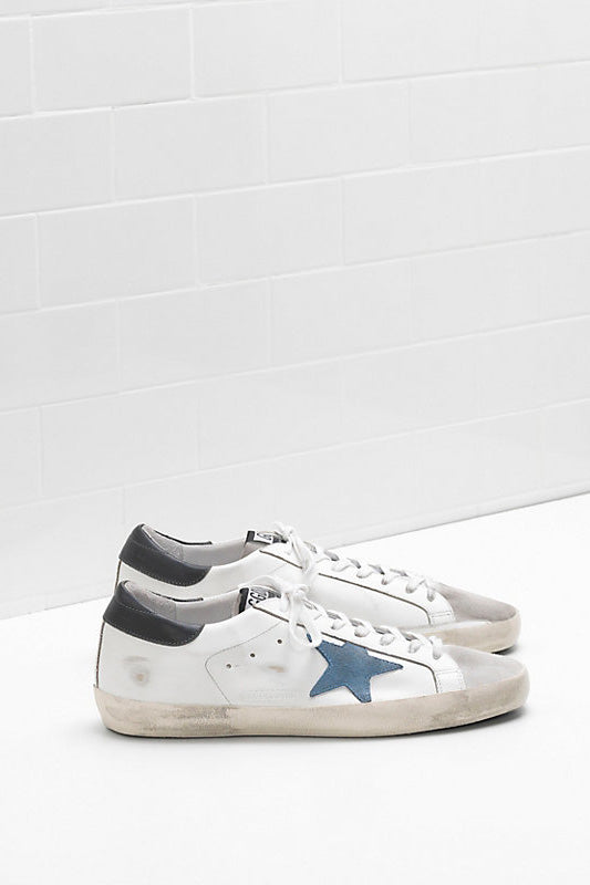 Superstar - Matte Heel Grey Blue Star