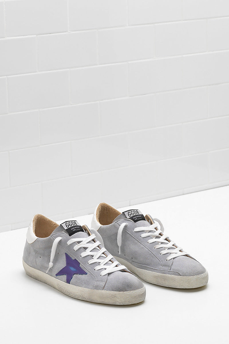 Superstar - Grey Suede Purple Star