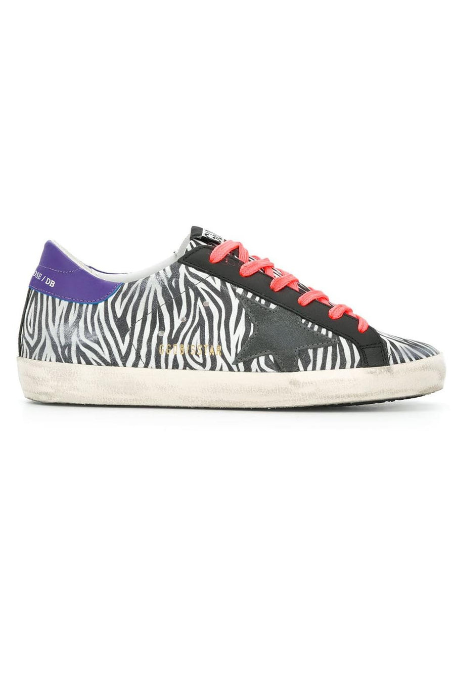 Superstar - Mini Zebra Suede Fluoro Lace