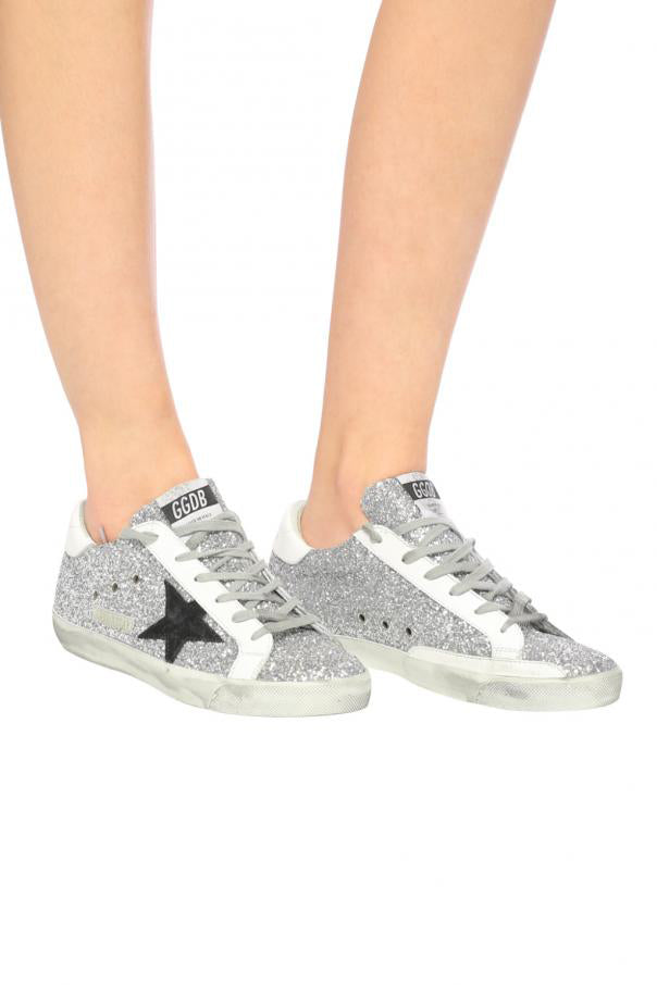 Superstar - Silver Glitter Black Star