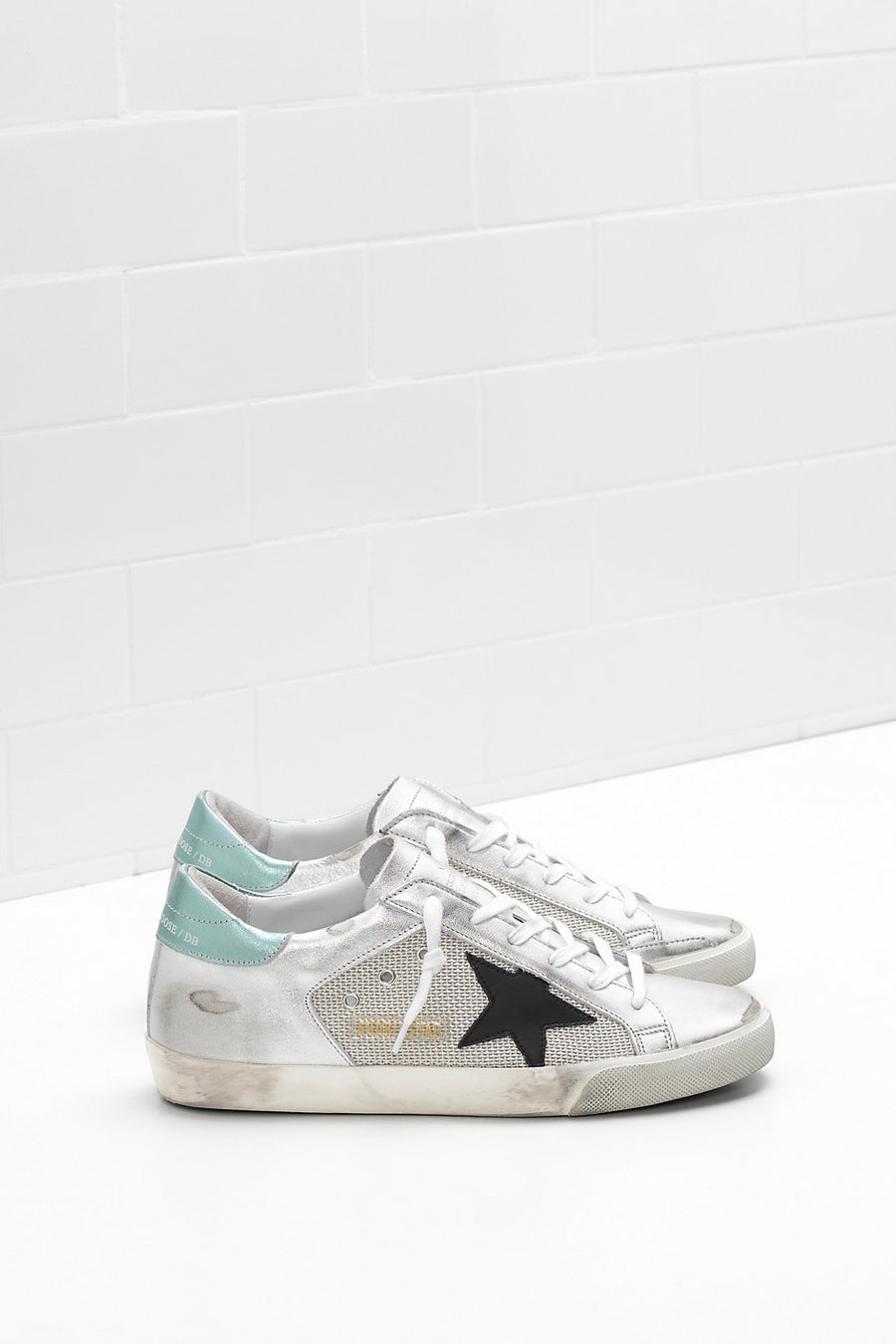 Superstar - White Silver Half-Green Laminated Leather - Pavilion