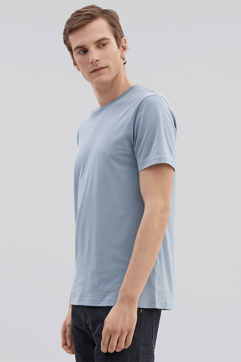 Crew Neck Tee - Dusty Blue - Pavilion