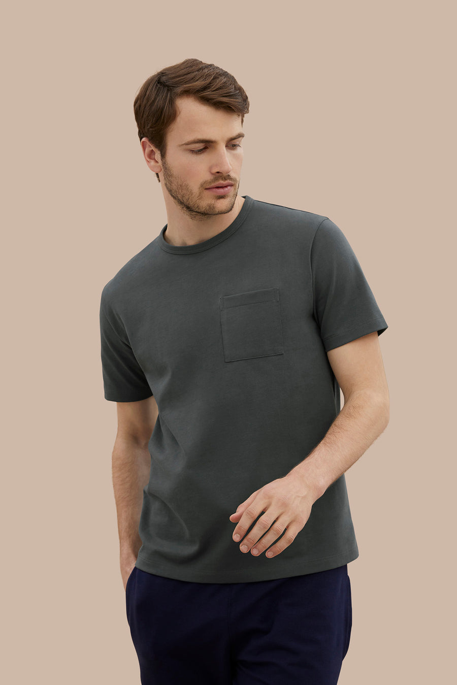 HW Pocket Tee - Steel Grey