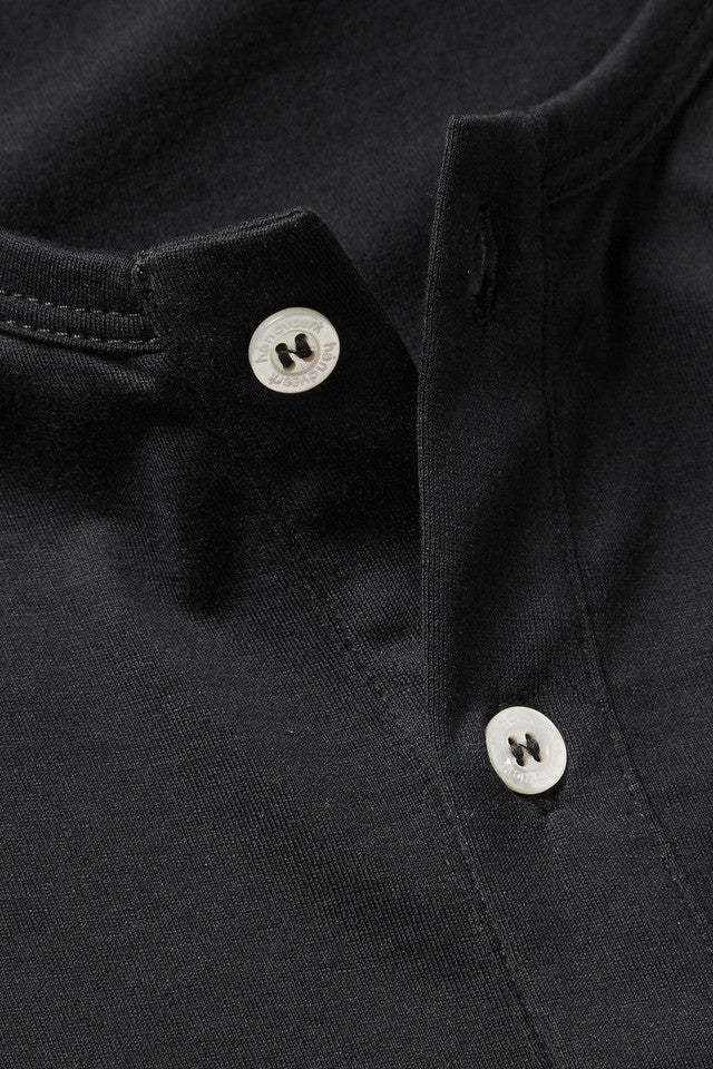 Long Sleeve Henley - Black - Pavilion