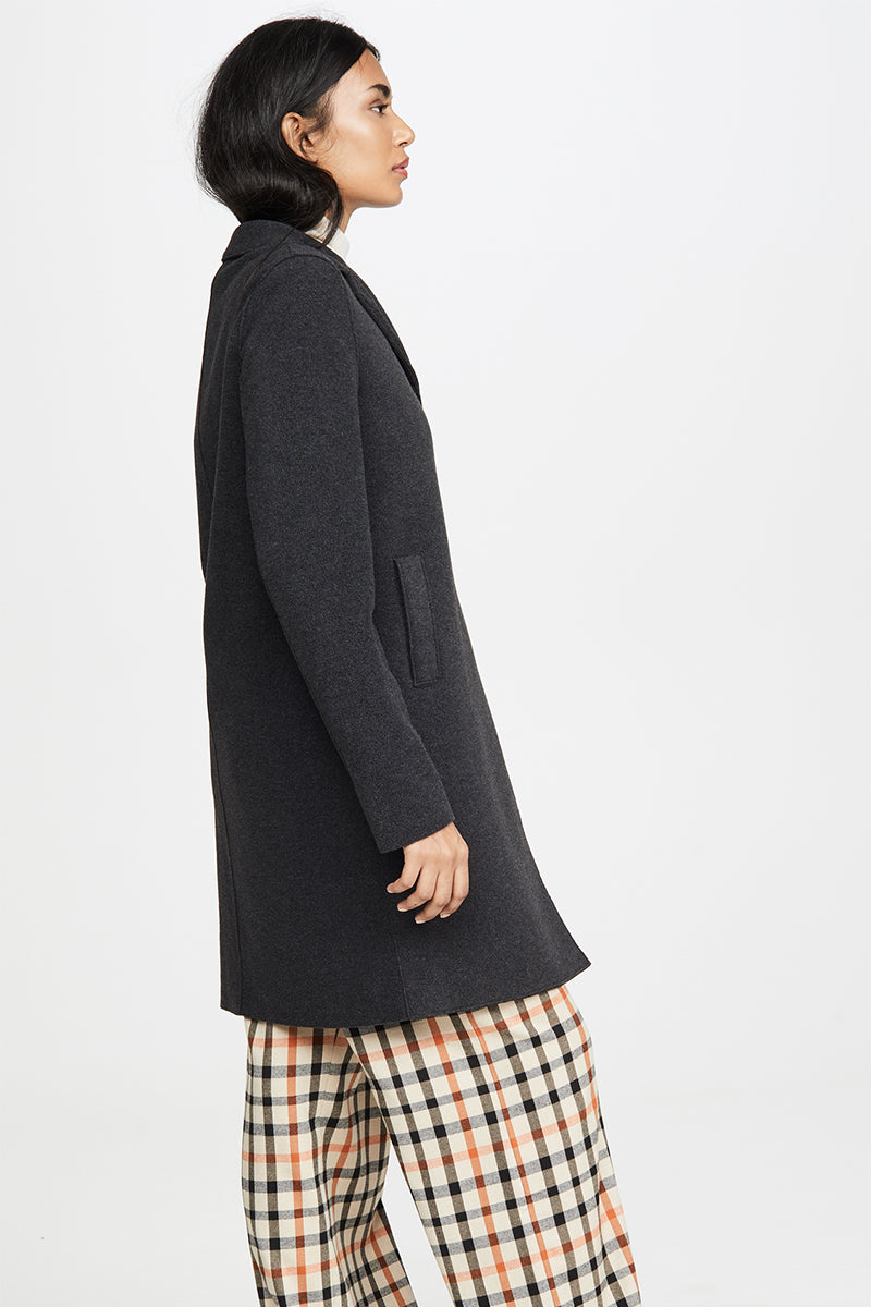Boxy Coat Polaire - Black