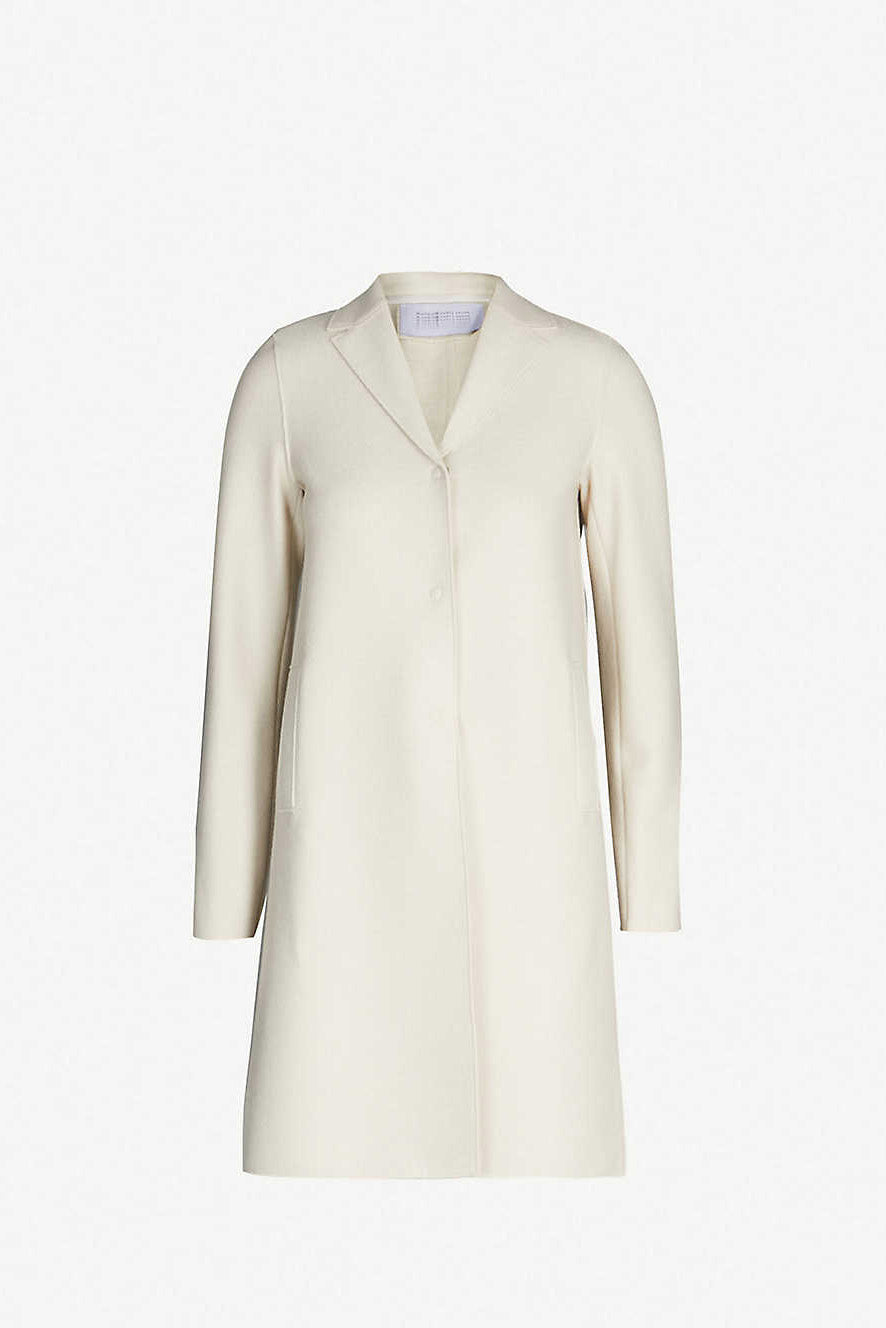 Cocoon Coat Pressed Wool - Cream - Pavilion