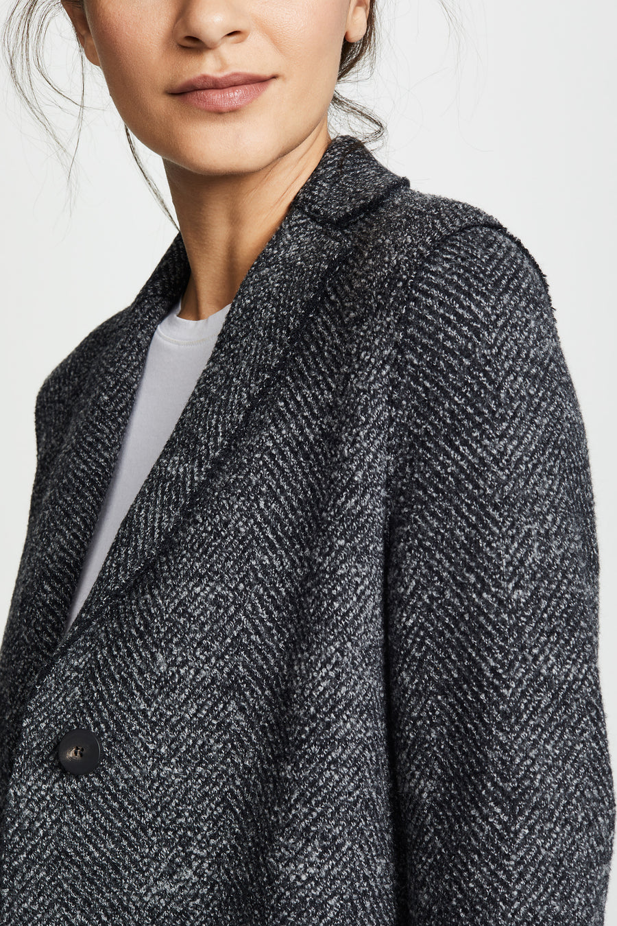 Overcoat Herringbone Coat - Anthracite