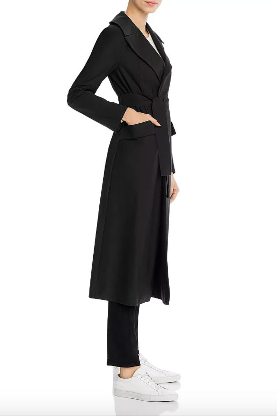 Light Technic Flap Pocket Duster Coat - Black - Pavilion
