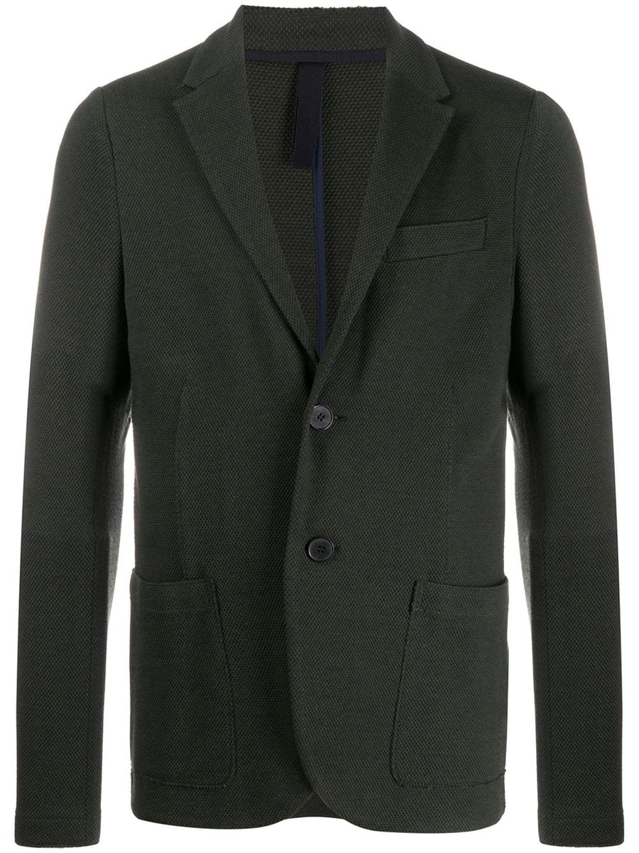 2 Button Blazer Stretch Piquet - Military Green