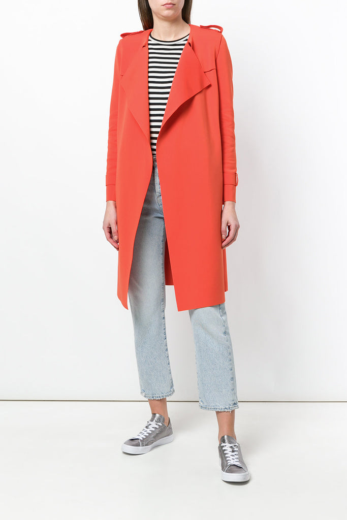 Waterfall Technic Trench Coat - Coral - Pavilion
