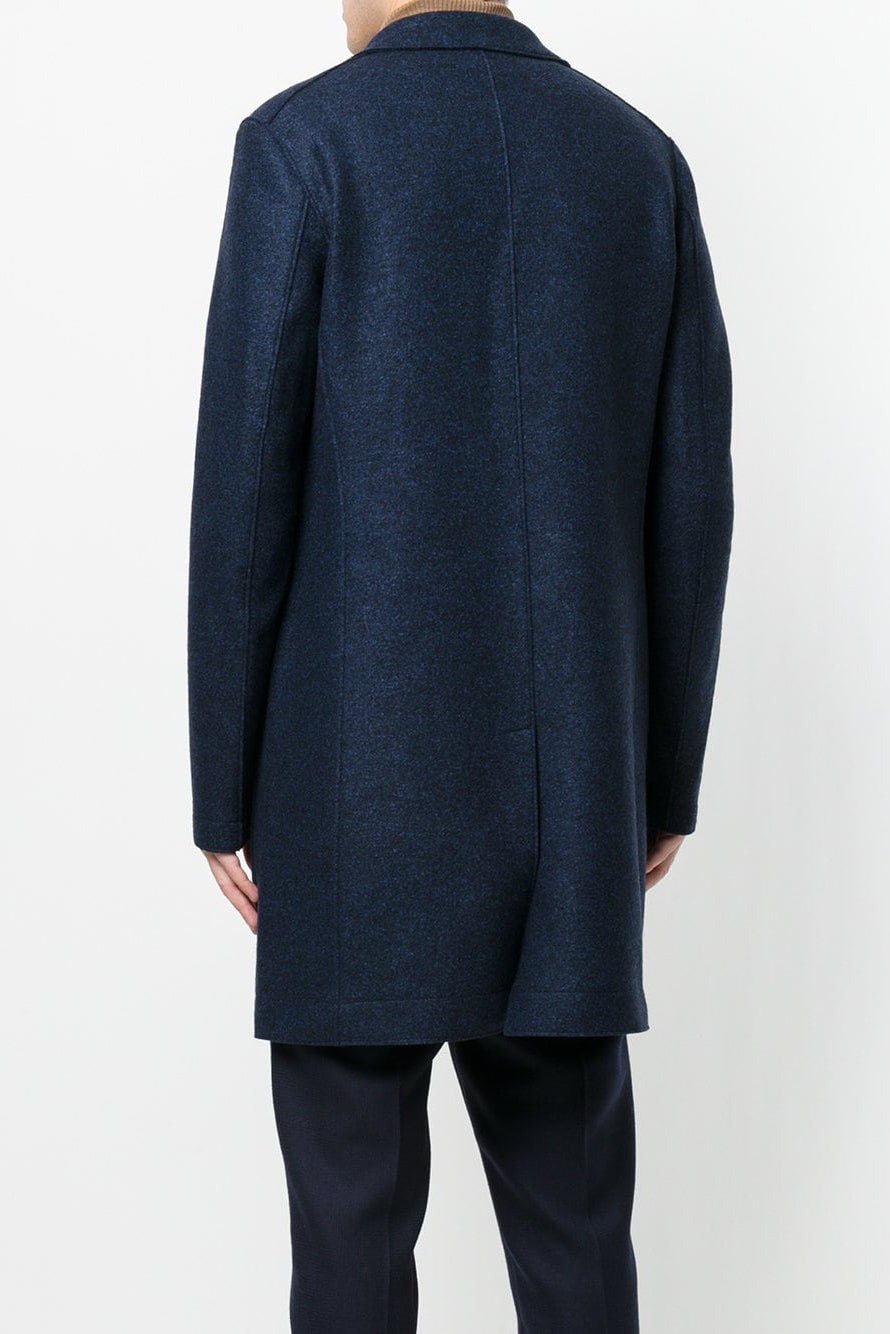 Boxy Single Breasted Coat - Blue Moulin - Pavilion