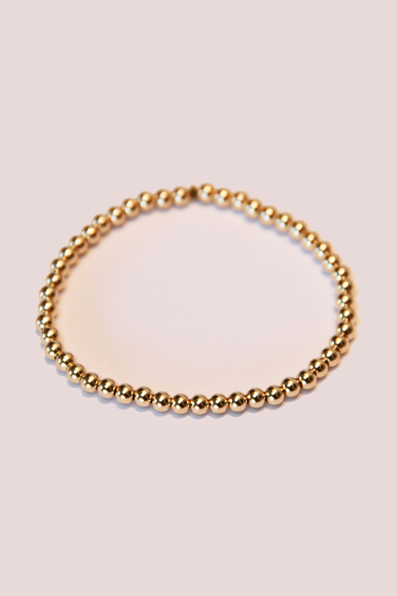 Medium Bead Gold Stretch Bracelet - Pavilion