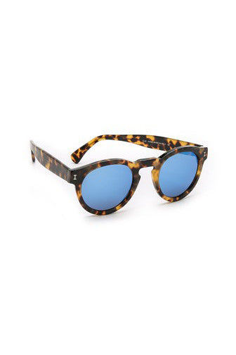 Leonard Mirrored Sunglasses - Blue - Pavilion
