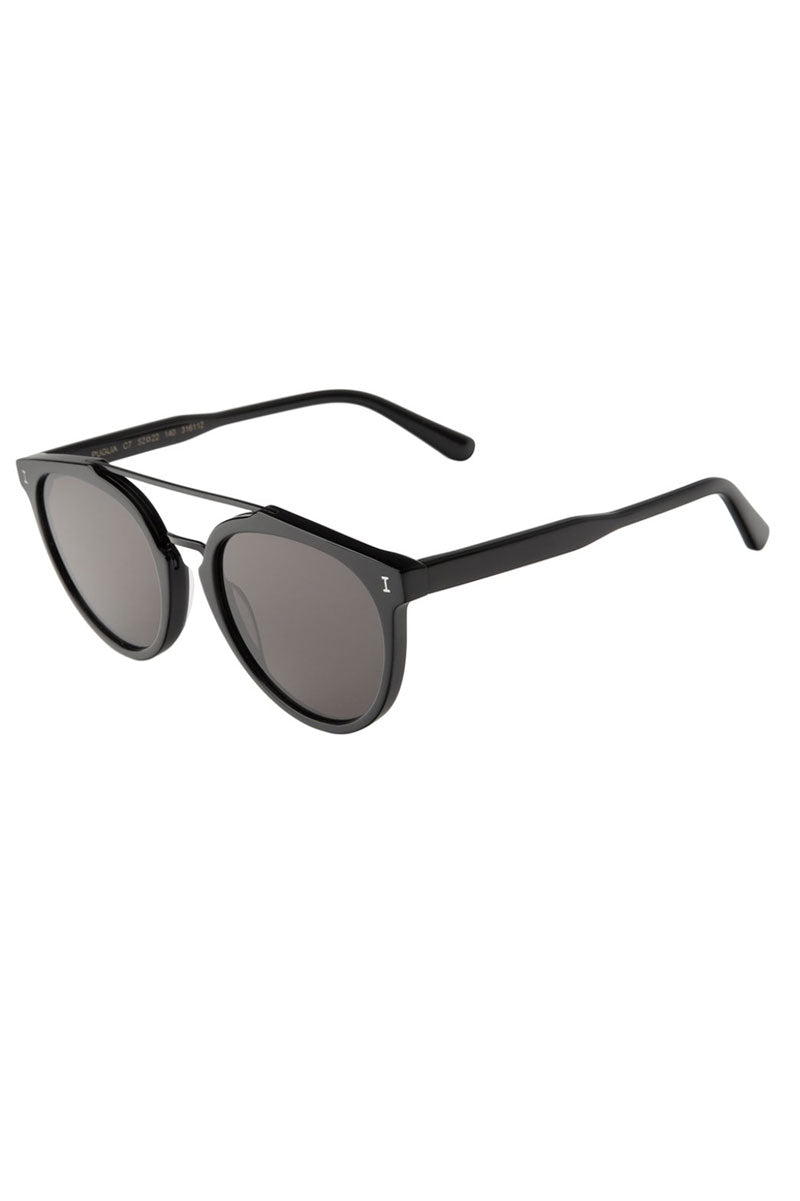 Puglia - Matte Black w/Grey Flat Lenses