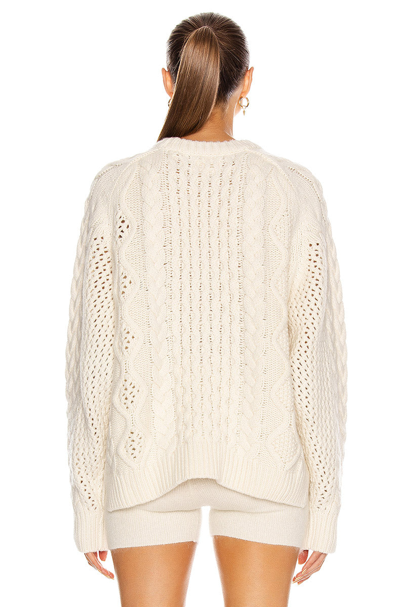 Ciprianu Cable Knit Sweater - Ivory