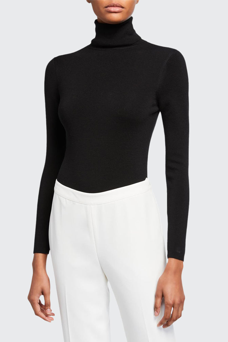 Galora Turtleneck Bodysuit - Black