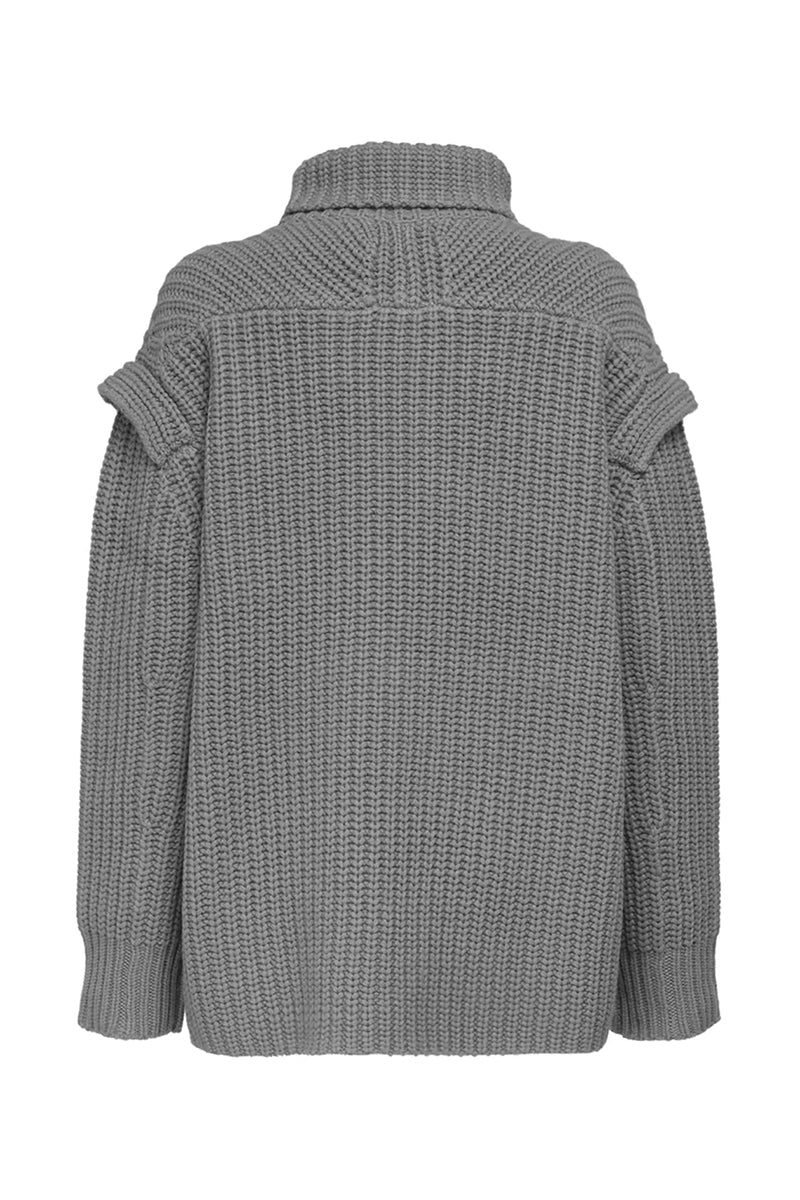 Parata Turtleneck Sweater - Grey Melange