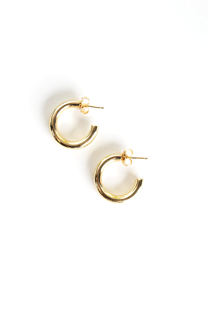 Chunky Small Hoop - Yellow Gold