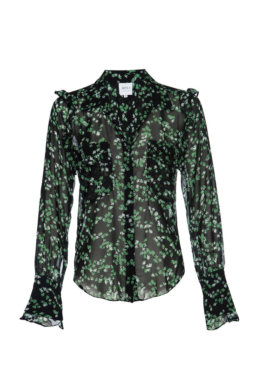 Anita Top - Green Mini Blooms - Pavilion