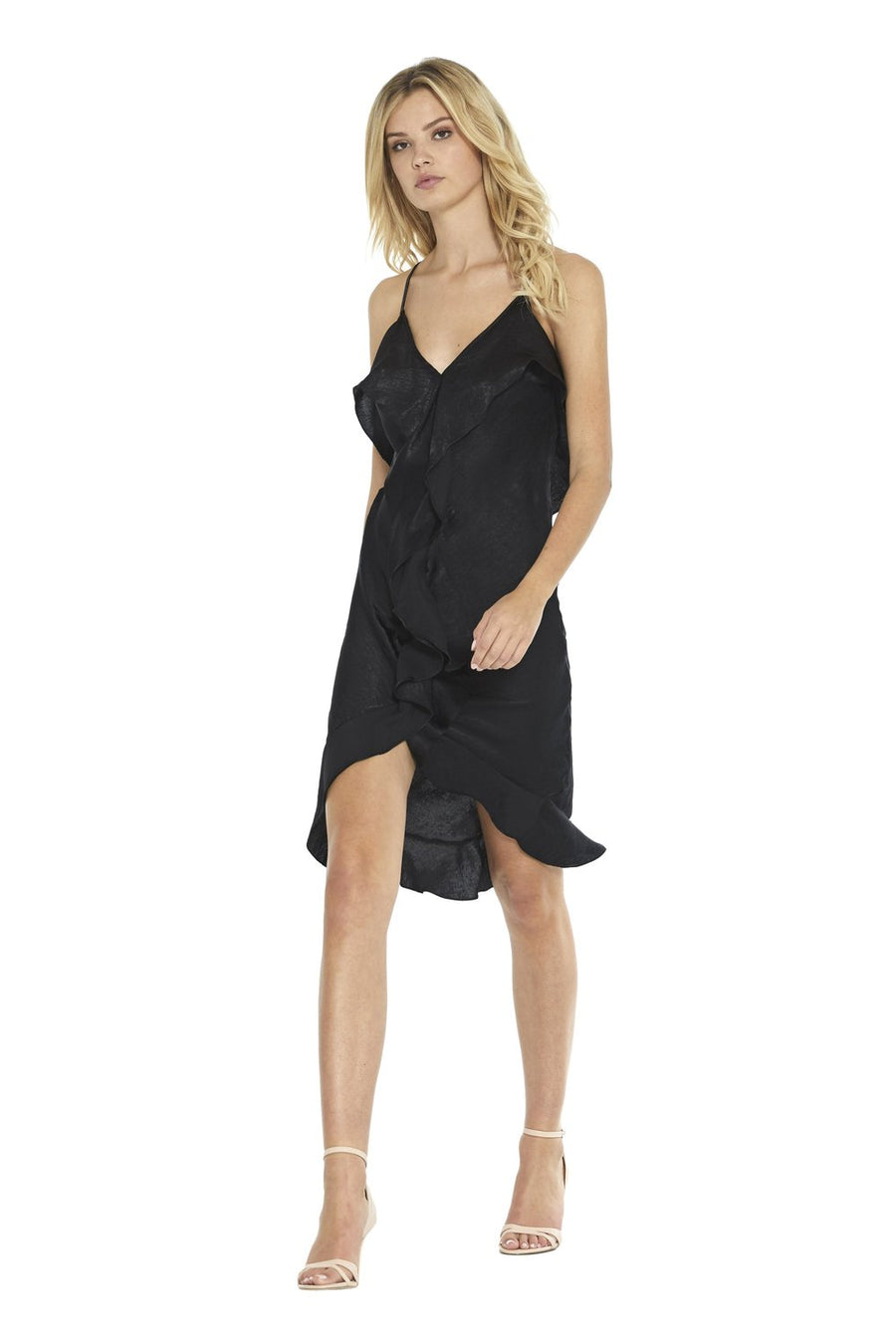 Ele Dress - Black Satin - Pavilion