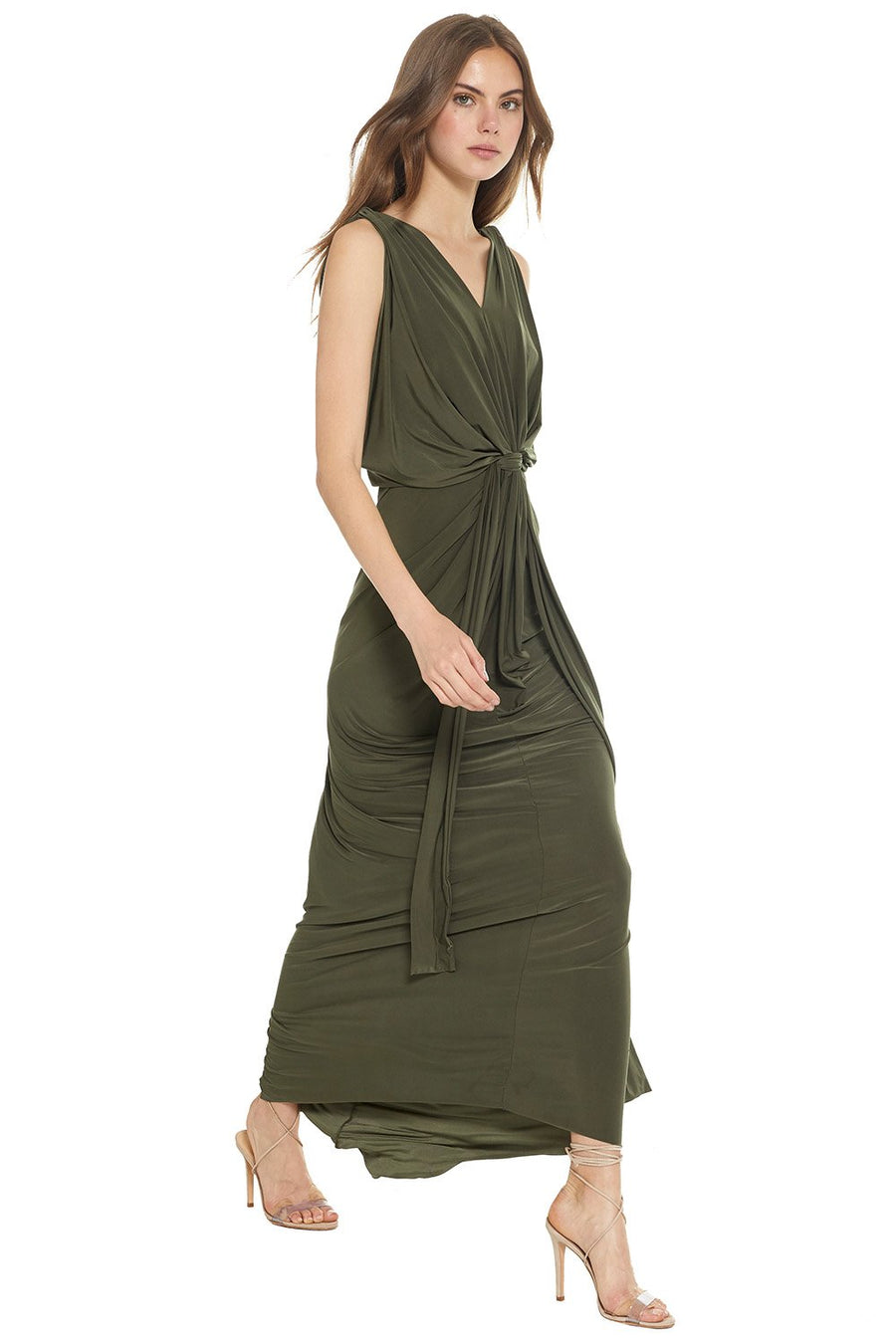 Xenia Dress - Olive - Pavilion