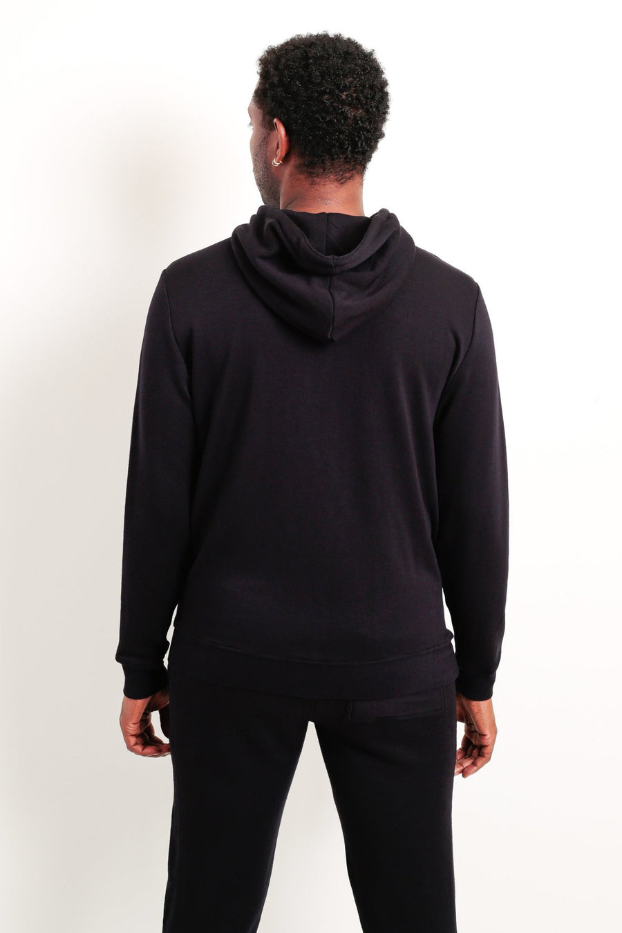 Panel Zip Up Hoodie - Black - Pavilion