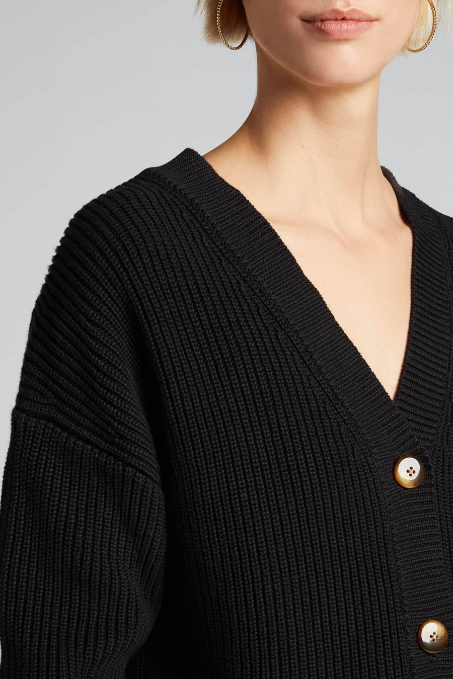 Rib Stitch Cardigan - Black - Pavilion