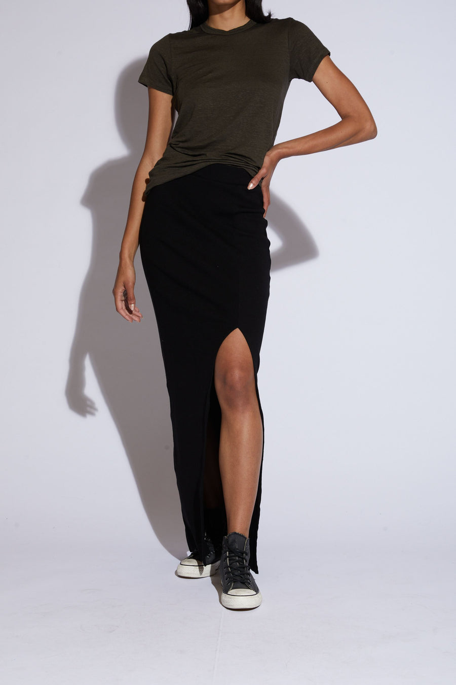 Arizia Slit Maxi Skirt - Black