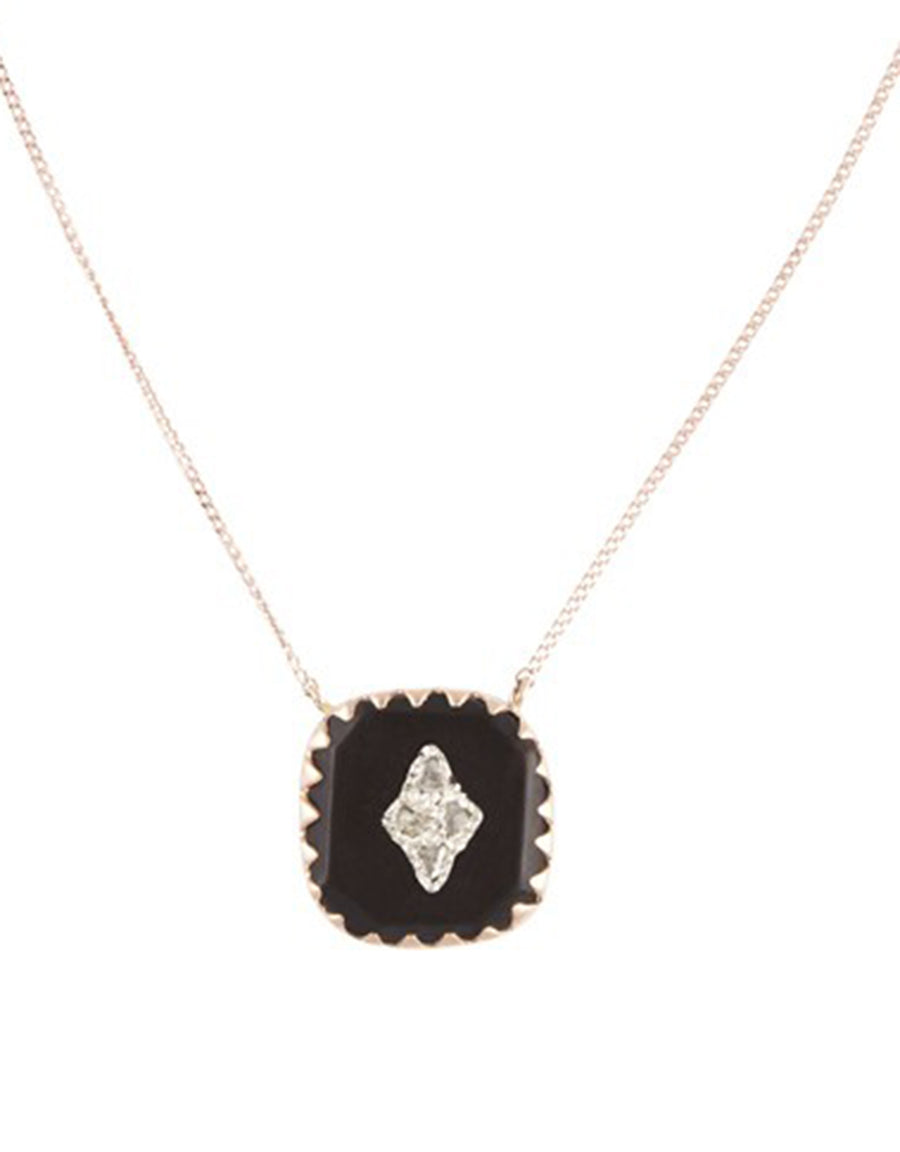 Pierrot N°2 Necklace - Black
