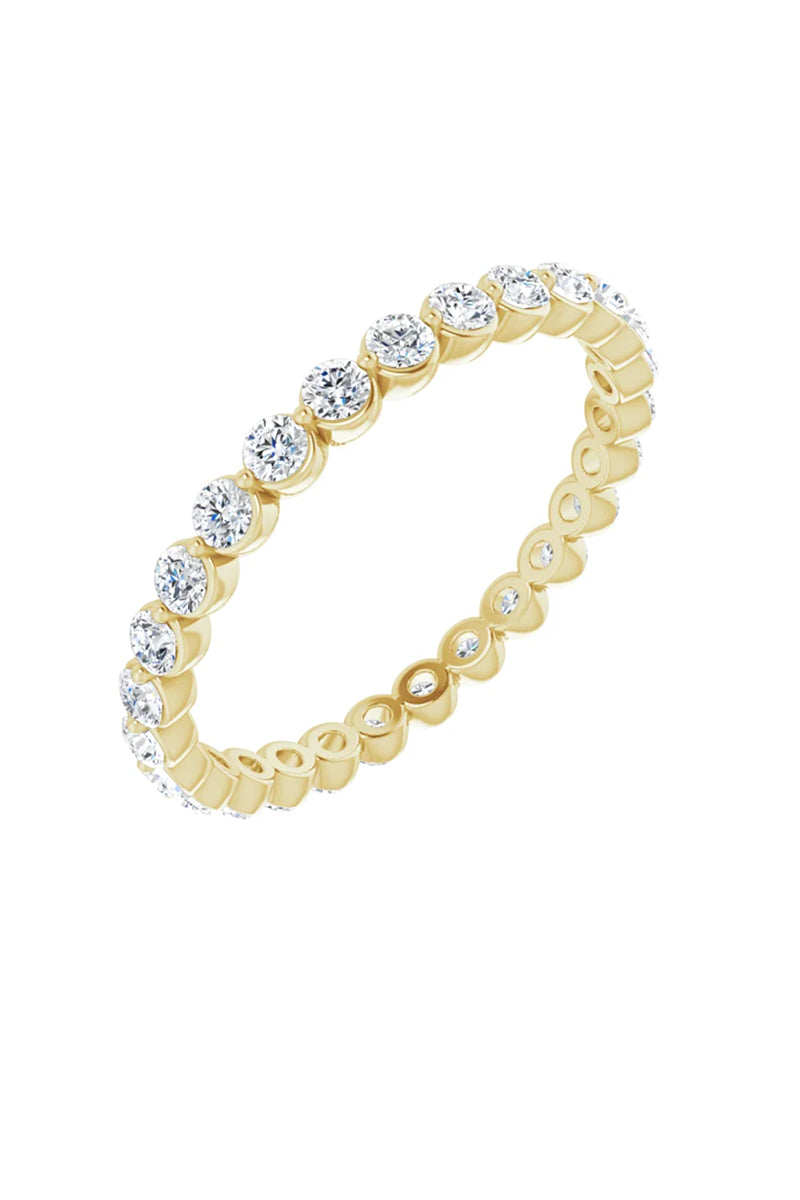 3/4 Diamond Eternity Band - Yellow Gold